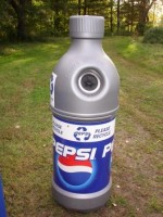 Pepsi bottle shaped bottle and can recycling container