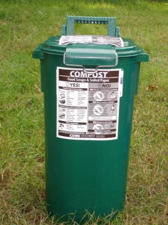Green compost recycling bin