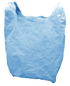 plastic bag blue no background