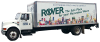 The Rover truck on a blank background