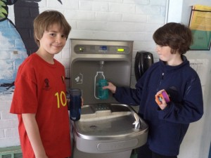 Water bottle fill stations at South Burlington schools