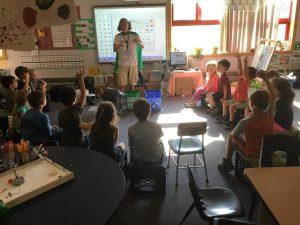 Dr. Deyo's kindergarten class at Allen Brook School in Williston