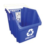 A 6-gallon recycling bin with a handle for special needs