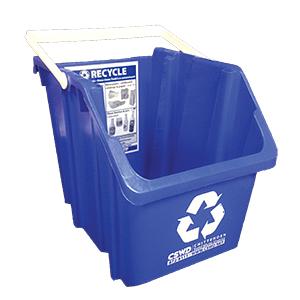 6-gallon blue recycling bin