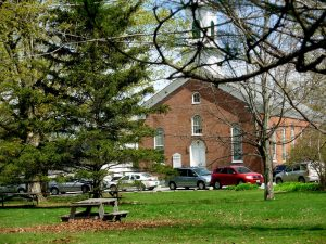 A view of the Congregational Church on Jericho Town Green