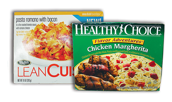 Two frozen food boxes.