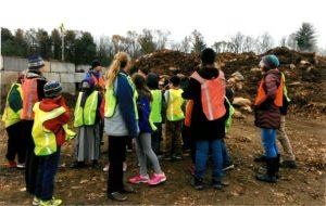 Mrs. Goetz's 4th grade class from Champlain Elementary School in Burlington on a CSWD field trip.