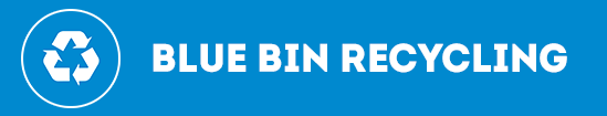 Blue-bin recycling banner image