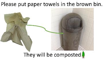 Hinesburg Community School bathroom sign