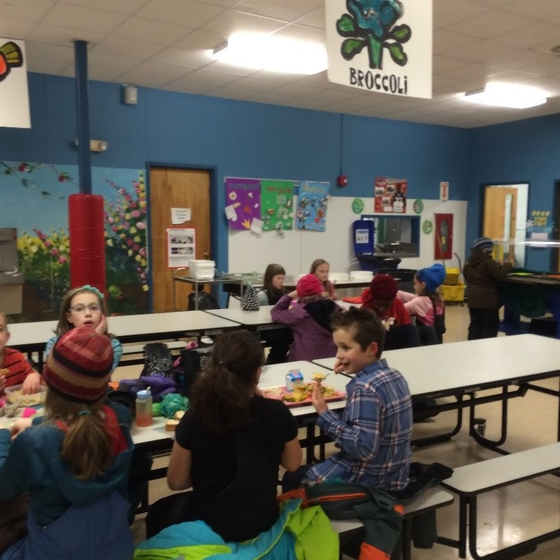 Hinesburg Community School cafeteria