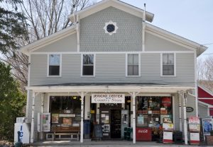 A view of the front of the Jericho Country Store