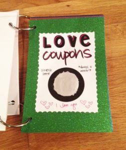 "Booklet of ""Love Coupons"""