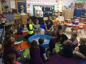 """Milton Elementary School's Green Team-led """"What Goes Where"""" education for each classroom, K-5"""