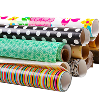 stack of wrapping paper rolls