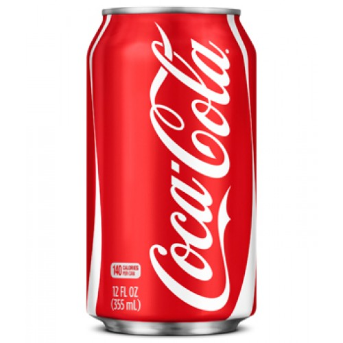 A red twelve ounce coke can.