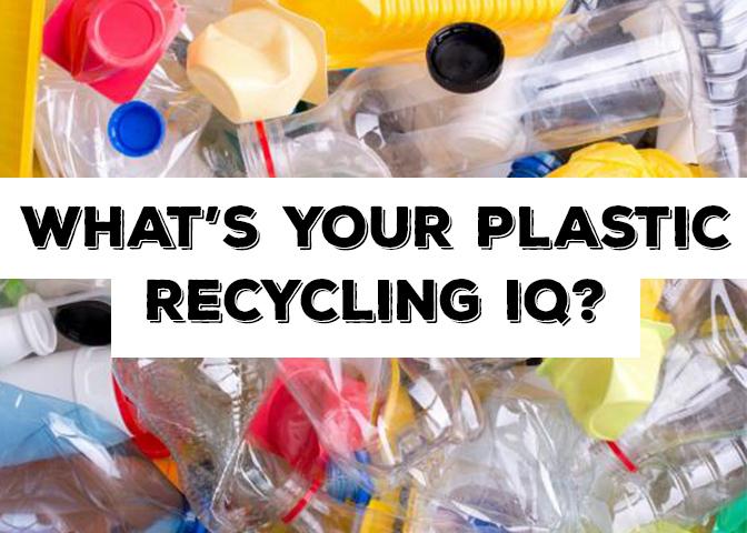 A collage of plastics.