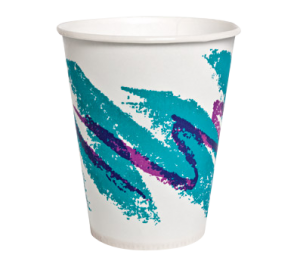 A waxed cup with a transparent background